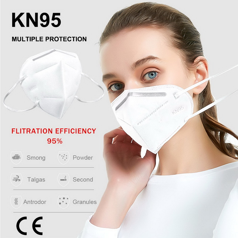 5PCS Mascarilla Coronavirus FDA Masks KN95 Dust-proof Breathable And PM2.5 Particulate Respirator Masks Unisex Same As KF94 FFP2