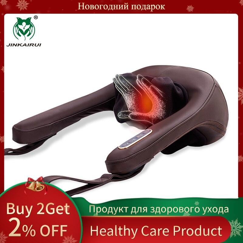 Anti-stress électrique cou épaule Massage oreillers Malaxation ménage pince appareil de Massage Cervical Massageador outil de santé