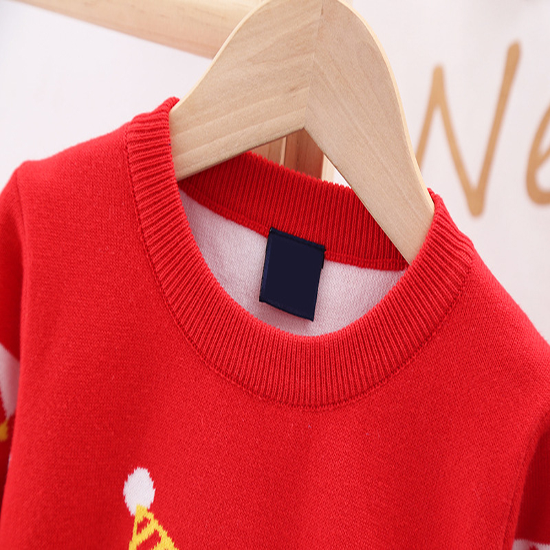 2020 Autumn Winter Christmas Kids Sweaters Knitting Pullover Baby Children Clothes Toddler Girls Fleece Soft Warm Sweater 3-10Y 6