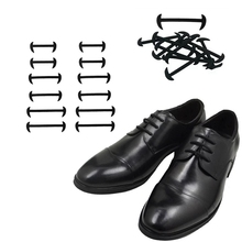 цены 12 Pcs No Tie Shoelaces Elastic Silicone shoe laces Fashion Leather shoes Simple Rubber Shoelace Leisure Fast Lazy laces 3 Color