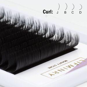 Image 5 - 6 extensions de cils de qualité plateau faux vison taille de cils unique cils naturels doux