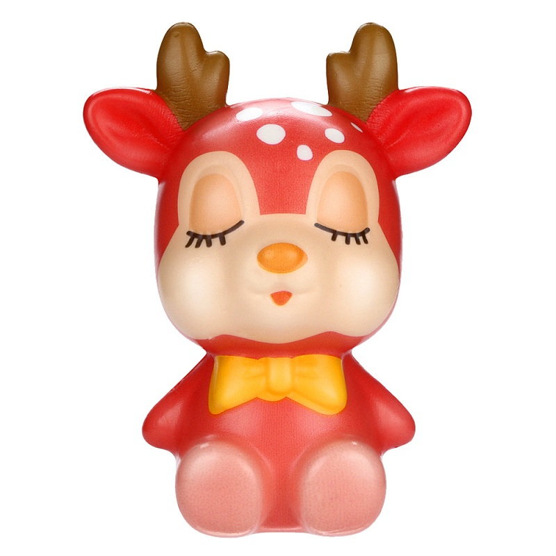 Kids Toy Squishy Kawaii Cream Relief-Toys Scented-Stress Slow Rising Funny Deer Christmas img2