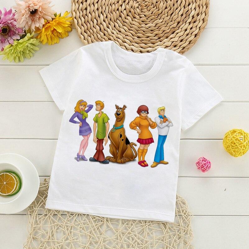 Mode nouveau bébé garçon vêtements film Scooby Doo drôle dessin animé impression T-shirt enfants été haut à col rond garçons filles T-shirt bébé vêtements
