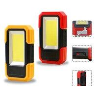 Wiederaufladbare Magnetische Arbeit Lampe 3 Beleuchtung Modi Led-arbeitslicht Magnet Basis & Clip Gebaut-in Batterie COB Taschenlampe outdoor