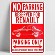 Affiche en métal avec panneau de Parking réservé, Renault dolphin ondine-kilowatt, affiche de Bar, Pub, maison, Garage, Art mural, stationnement décoratif