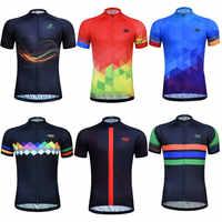 Ciclismo Jersey Uomo Estate MTB Bici Jersey Manica Corta Traspirante Fabbrica Direttamente Vendita di Usura Abbigliamento Bicicletta camisa ciclismo