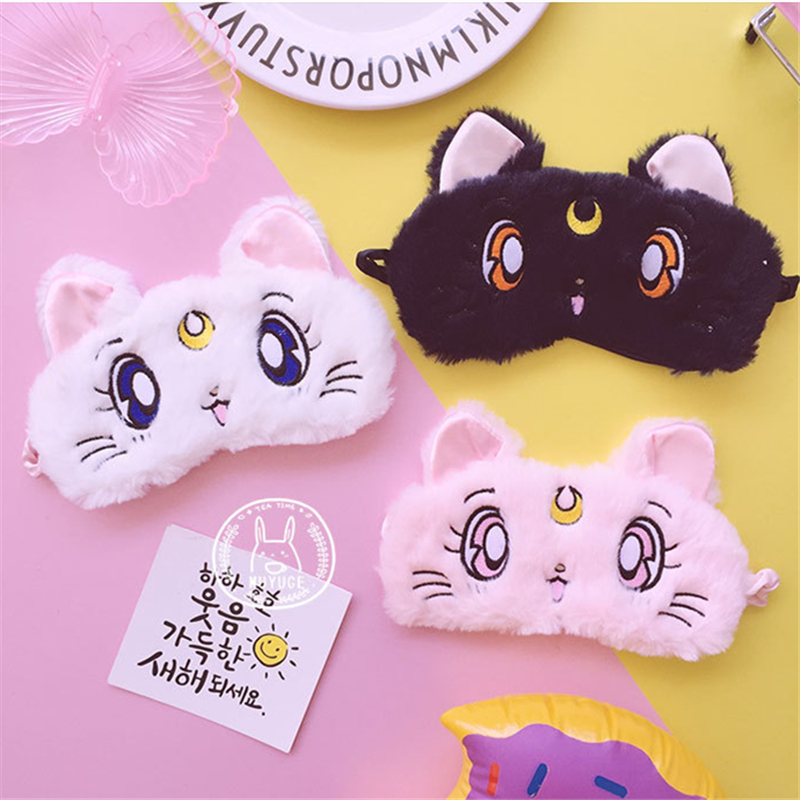 Sailor Moon Blinder Cosplay Costumes Acc Tsukino Usagi Patch Cartoon Anime Cute Luna Cat  Eye Cup Goggles MASK