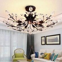 Modern Crystal ceiling light for dining room Bedroom Nordic Crystal Lamps for living room loft Crystal lighting avize 110v 220v все цены