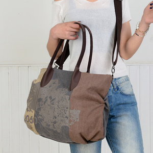 Image 5 - PILER Casual Big Frauen Tasche Handtaschen Leinwand Schulter Taschen Hobo Große Crossbody tasche Handtasche Einkaufstaschen für Frauen Umhängetasche