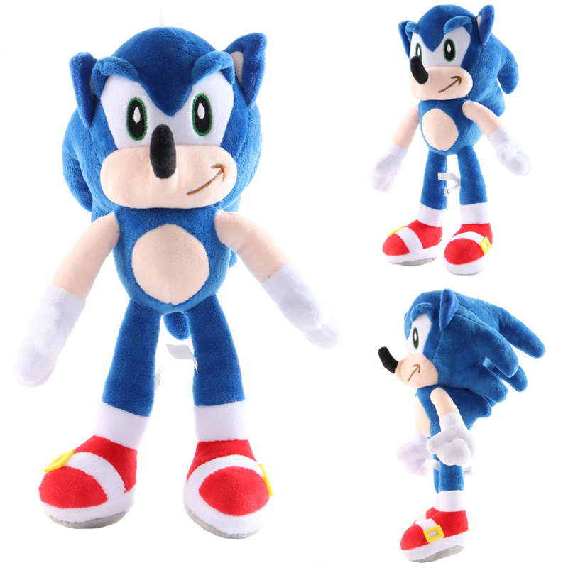 High Quality 27cm Blue Sonic Plush Doll Toy Soft Sonic Stuffed Animals Characters Kids Toys Brinquedos Dolls Gifts Free Shipping