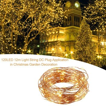 120 LED 12m LED Light String DC Plug Application in Christmas Decoration Company Crafts Gifts Garden Decoration image