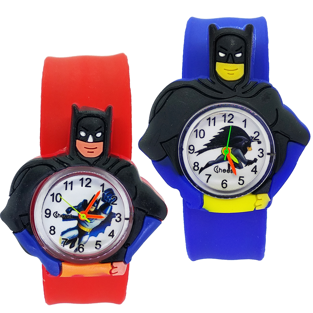 Children's Watches Cartoon Batman Toys Baby Clock Kids Watches for 2-12 Years Old Children Girls Boys Gifts Quartz Watch Relogio