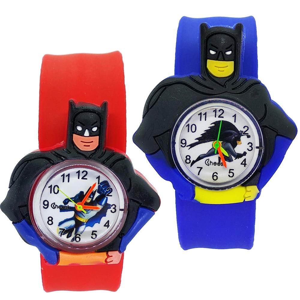 Children's Watches Cartoon Batman Toys Baby Clock Kids Watches For 2-12 Years Old Children Girls Boys Gifts Quartz Watch Relogio