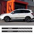 2 sztuk wystrój aut drzwi samochodu boczna dokładka naklejki kalkomanie dla Subaru Forester Impreza XV Ascent Legacy BRZ Outback WRX akcesoria samochodowe