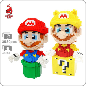 CKL Video Game Super Mario Golden Waterpipe Figure 3D Model DIY Mini Building Diamond Small Blocks Brick Toy for Children no box фото