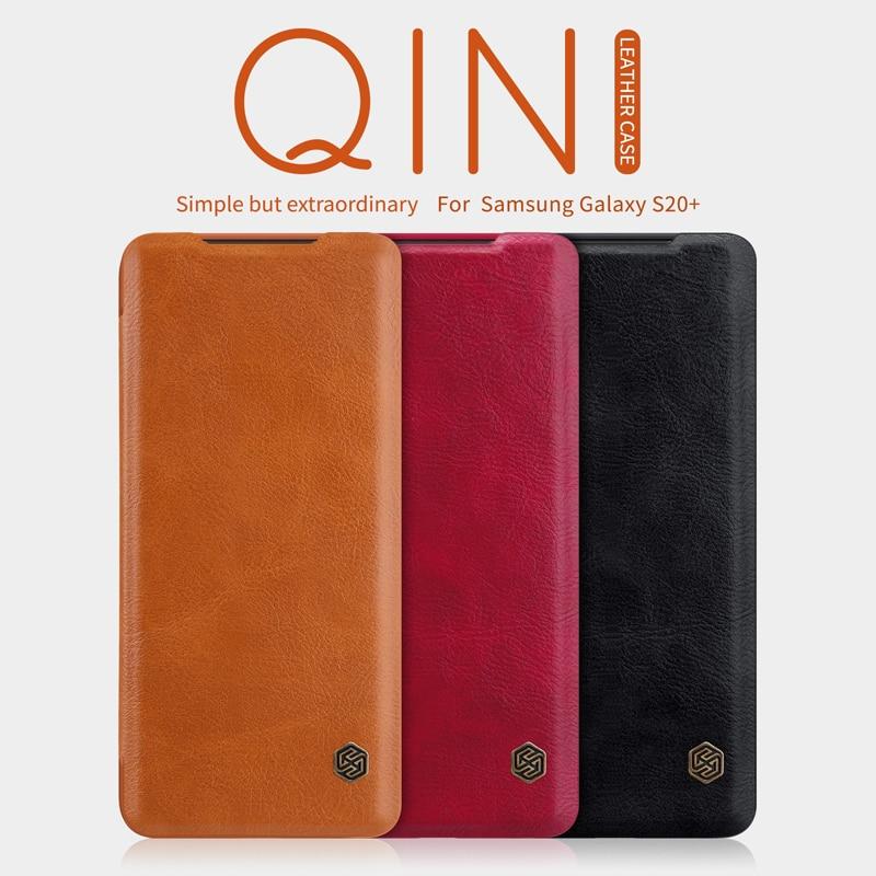 Samsung Note үшін 10 9 8 S8 S9 S10 S10e S20 плюс NILLKIN Qin - Мобильді телефондарға арналған аксессуарлар мен бөлшектер - фото 1
