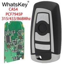 WhatsKey Car Smart Remote Key Fob 315/433/868Mhz PCF7945P Chip Keytless Entry For BMW CAS4 3 5 7 Series E60 E90 X3 X5 M3 F10 F30 whatskey 3 button remote control for bmw 315 434 315lp 868 mhz id46 1 3 5 6 7 series x5 x6 z4 e60 e82 e87 e90