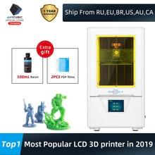 Anycubic光子4s lcd 3Dプリンタ405nmマトリックスuvライト3D印刷クイックスライスデュアルz軸sla 3dプリンタ光子