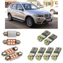 Интерьерные Светодиодные Автомобильные фонари для BMW X3 f25, Купольные лампы для чтения автомобилей, без ошибок, номерной знак, свет 4 шт./лот