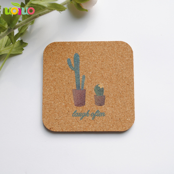 CustomTable Pad Eco-friendly 1Pcs Drink Coasters Pot Holder Tabletop Decor Round Shape Heat Insulation Natural Cork Pine Cup Mat image
