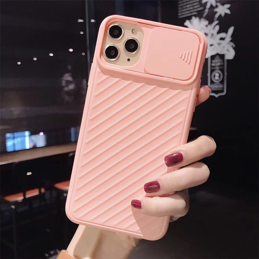 H1d73750420ef4f58b41a23d09de5b3f3I - Lovebay Camera Protection Shockproof Phone Case For iPhone 11 Pro X XR XS Max 7 8 Plus Solid Color Soft TPU Silicone Back Cover