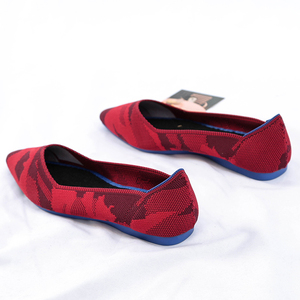 Image 5 - Roman Hot Design Mixed Colors Pointed Toe Slip on Mules Women Single Shoes Microfiber Knitted Flats Femme 34 44 Ballet  Lady
