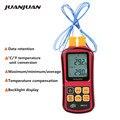 Цифровой термометр-термопара GM1312,-50 ~ 300 ℃, с подсветкой и двухканальным измерителем температуры, тестер, скидка 40%