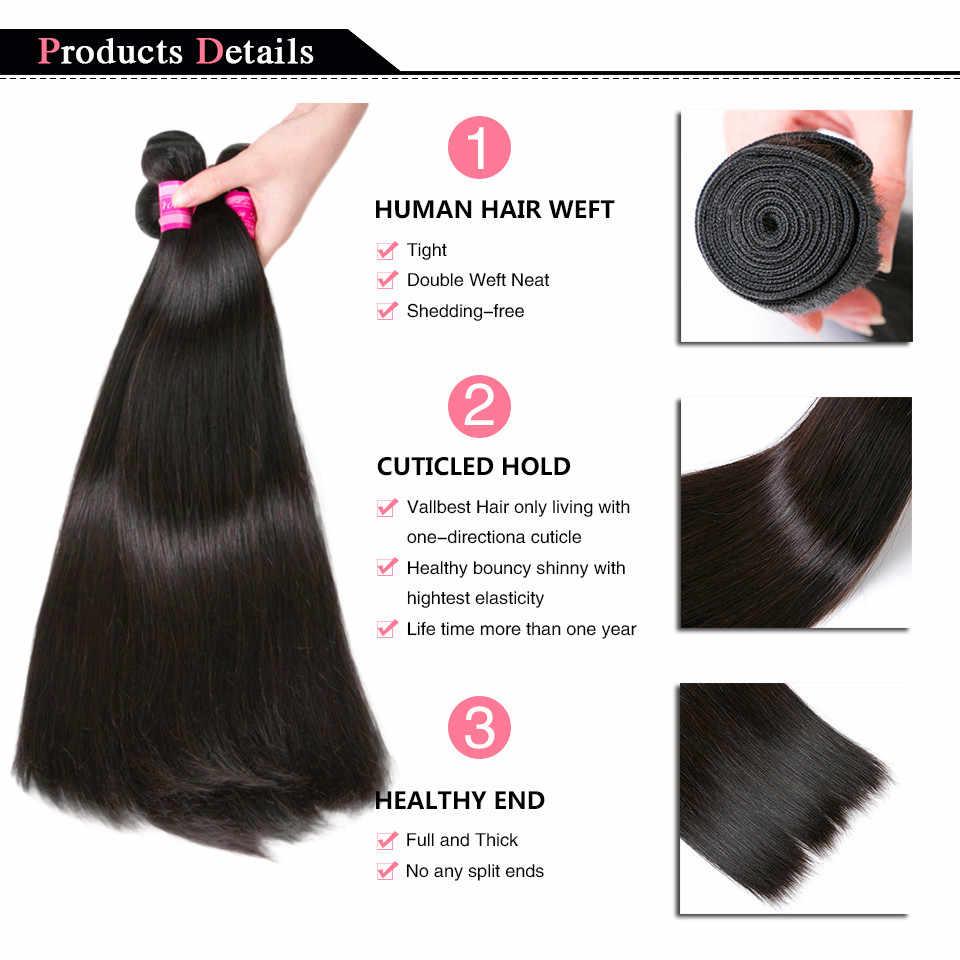 Braziliaanse Straight Menselijk Haar Weeft Natuurlijke/Jet Black 1/3/4 Pcs Haarverlenging 100% Menselijk Haar Bundels Younsolo haar Bundels