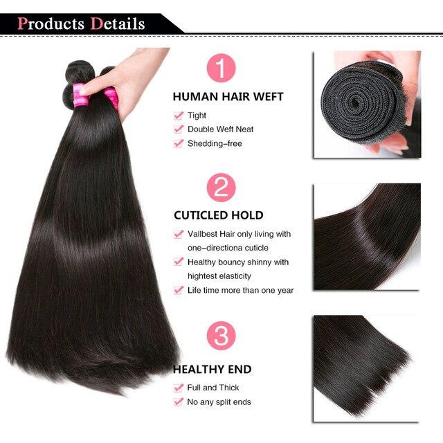Cabello humano liso brasileño, ondas naturales/negras azabache 1/3/4 Uds extensión de Cabello 100% extensiones de cabello humano, paquetes de cabello humano Younsolo