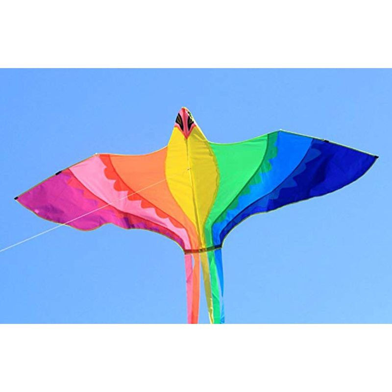 Phoenix Kite With Long Colorful Tail With Handle Line Outdoor Fun Kids Toy 95AE