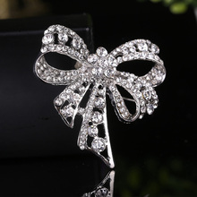 Bowknot Brooch Pin Wedding Party Scarf Brooches Trendy Alloy Banquet Jewelry Boutonniere