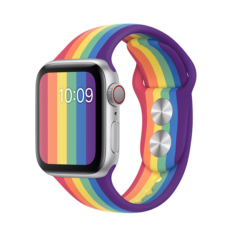 New Pride Edition Sport Band For Apple Watch Band 40mm 44mm Silicone Strap Iwatch Correa Bracelet 42mm 38mm Watchband Accessory