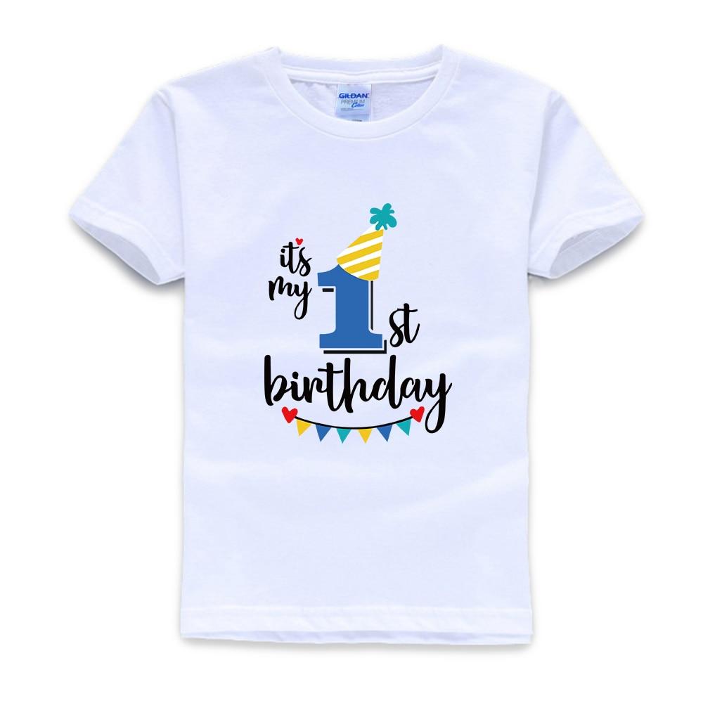 It S My 1st First Birthday T Shirt Childrens Kids T Shirt Boys Age Size Cake Smash T Shirts Aliexpress