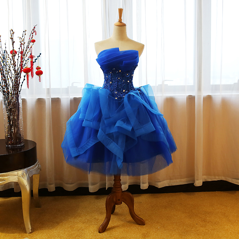 Image 2 - Quinceanera Dresses 2019 The Party Prom Elegant Strapless Ball Gown 5 Colors Formal Homecoming Quinceanera Dress Custom Size F-in Quinceanera Dresses from Weddings & Events