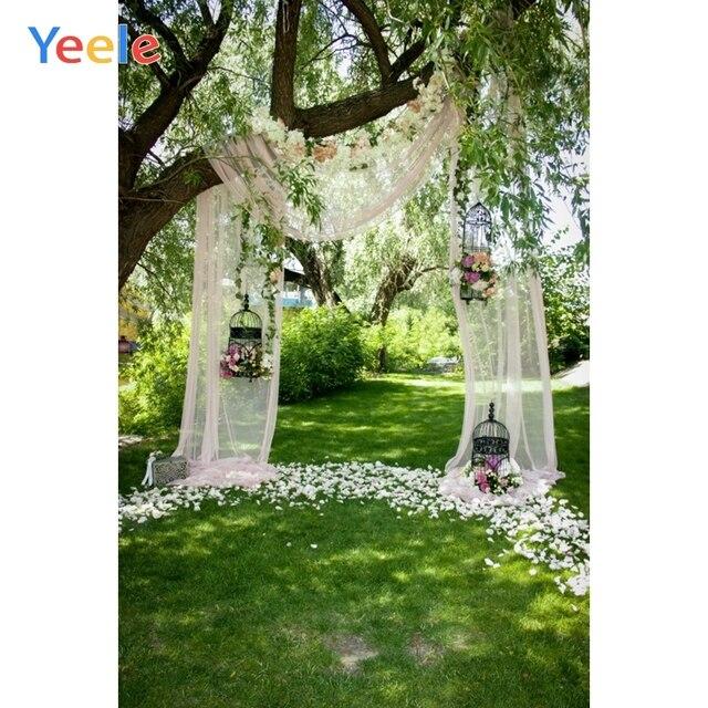Yeele חתונה שיחת וידאו וילון עצי כר דשא דקור צילום רקע מותאם אישית צילום תפאורות צילום סטודיו