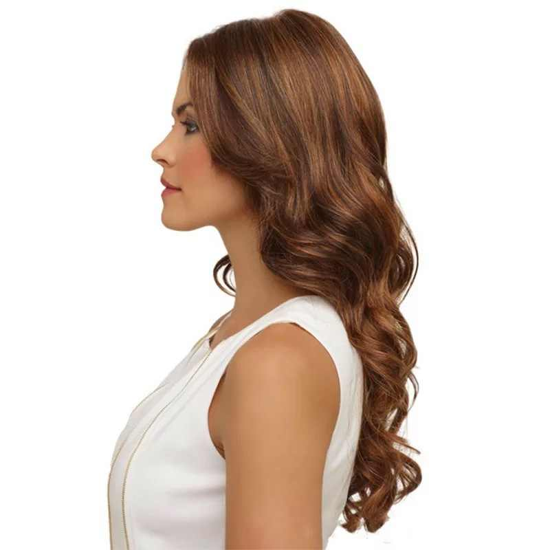 Long curly hair wig with split middle Giving hair net Princess Magic Cosplay Synthetic Wigs For White