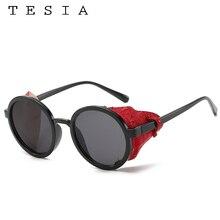 Vintage Round Sunglasses Women Men Brand Designer Shields