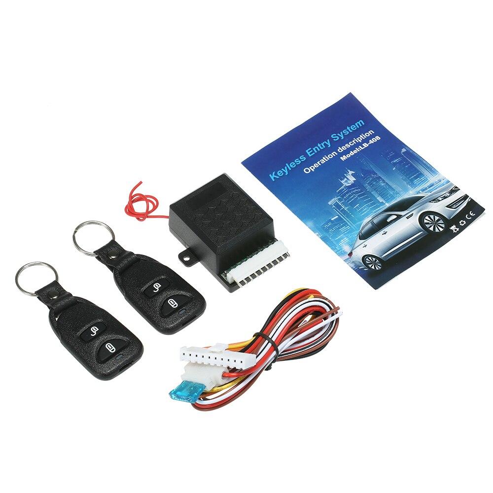Universal Auto Auto Fernbedienung Zentrale Kit 12V Türschloss Locking Fahrzeug Keyless Entry System mit Blinkend Alarm 2 Fernbedienung control