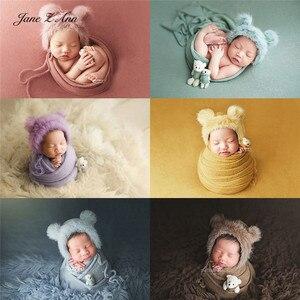 Jane Z Ann детский реквизит для фотосессии многоцветная меховая шапка для новорожденных кукла медведь обертывание аксессуары для студийной съ...
