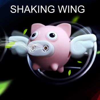Cute Car Air Perfume Flying Pig Aroma Diffuser Air Freshener Auto Interior Scent Aromatherapy Decor Car Accessory Piggy Ornament 5