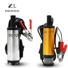 Mini bomba sumergible eléctrica portátil para bombeo de agua, aceite y diésel, 12l/min, carcasa de aleación de aluminio, bomba de transferencia de combustible, 12V y 24V