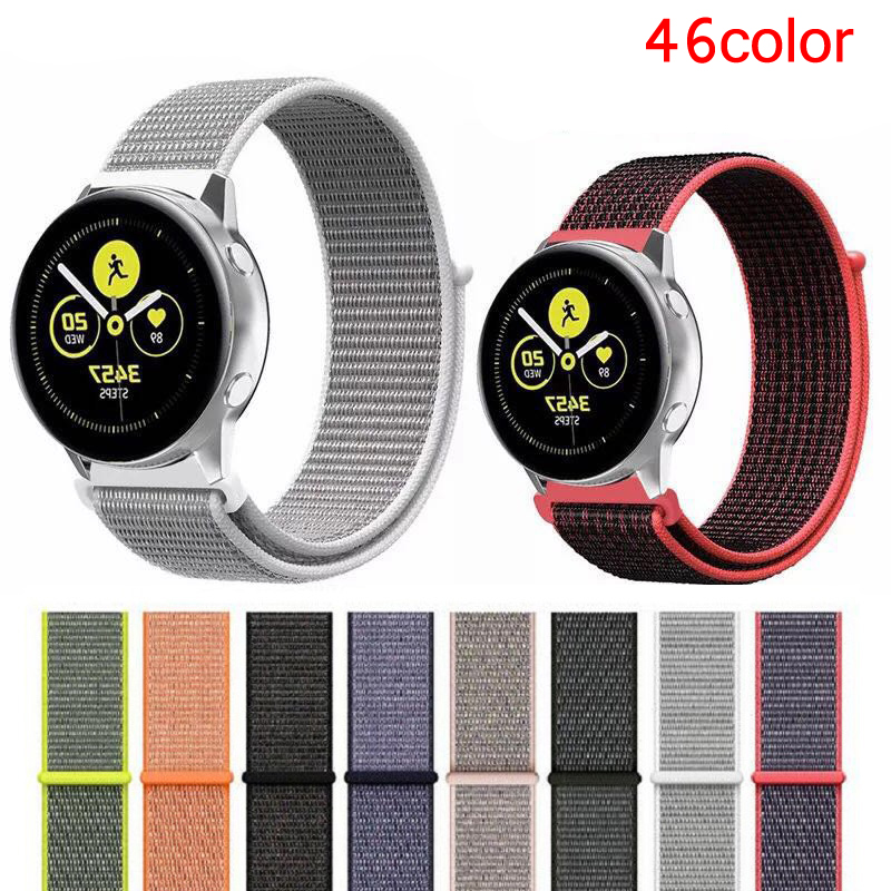 22mm 20mm Watch Band For Samsung Galaxy Watch Gear S3 Frontier Strap 46mm 42 Gear Sport Loop Amazfit Gtr 47 Huawei Watch Gt