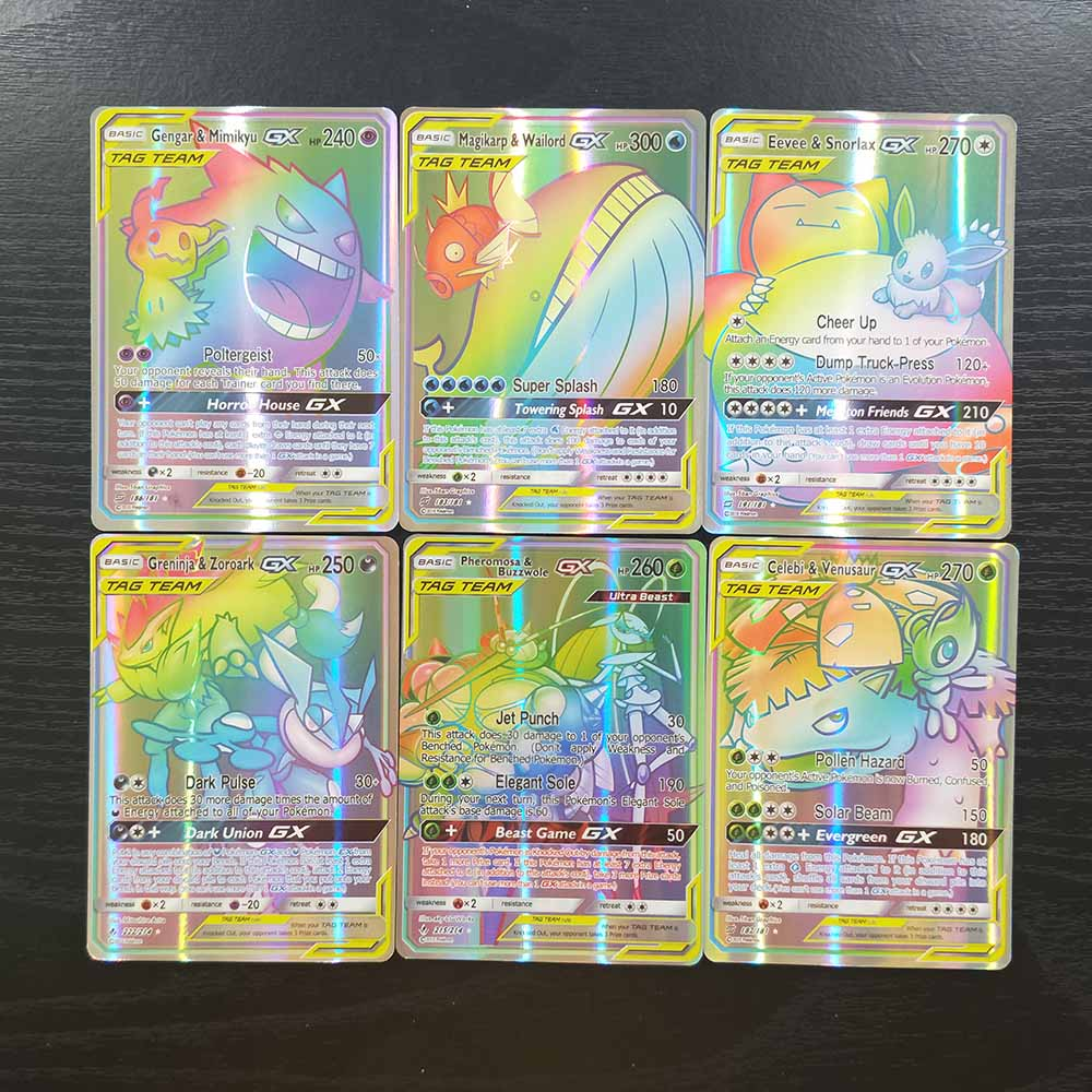 TAKARA TOMY 120 Flash Cards GX Collections Shining Card Board Game Children Toy Christmas Gifts Table Battle TCG Pokemon Cards