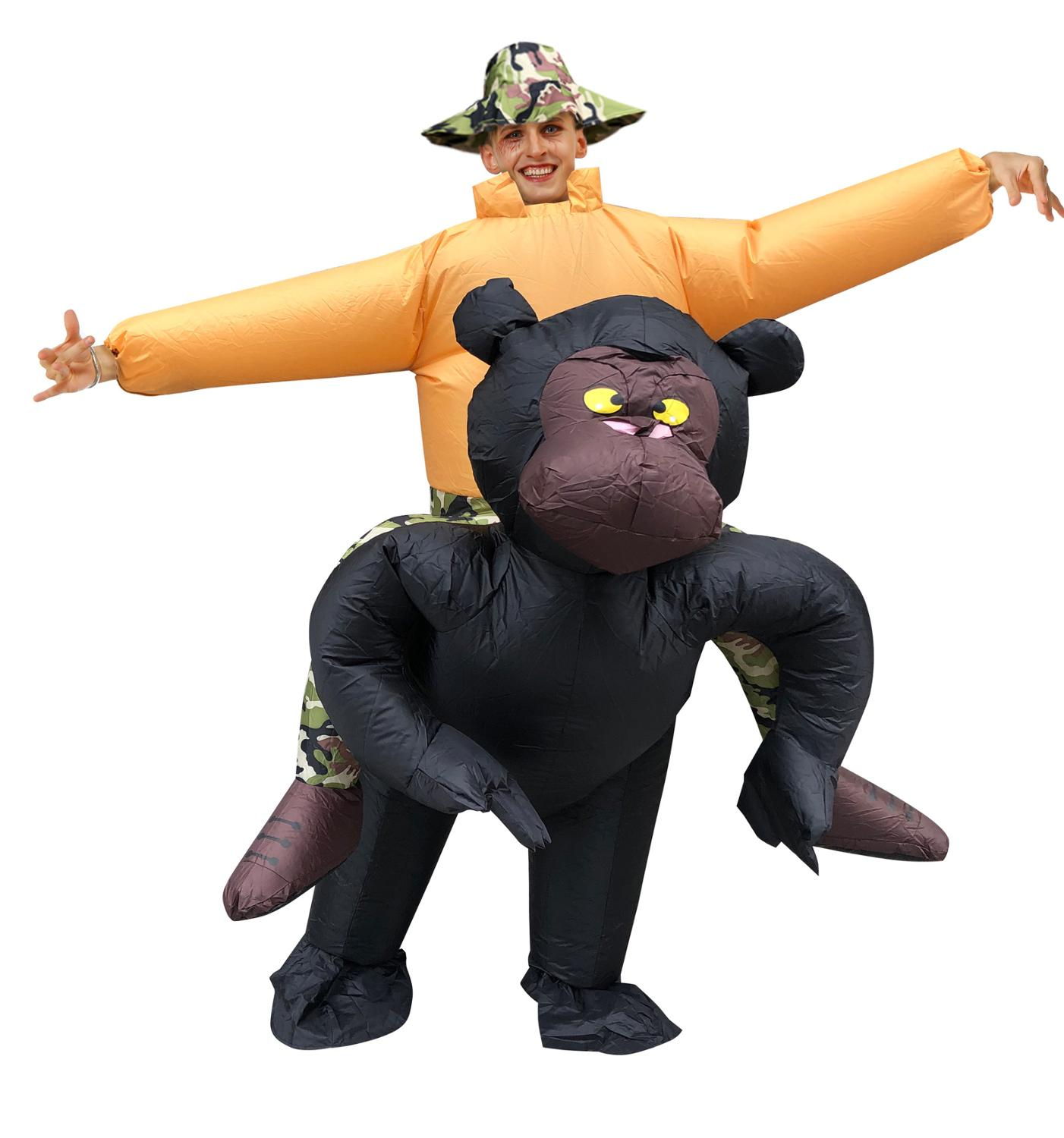 Inflatable Black Apes and Monkeys Costumes Gorilla Jumpsuit Wild Animals Inflatable Design