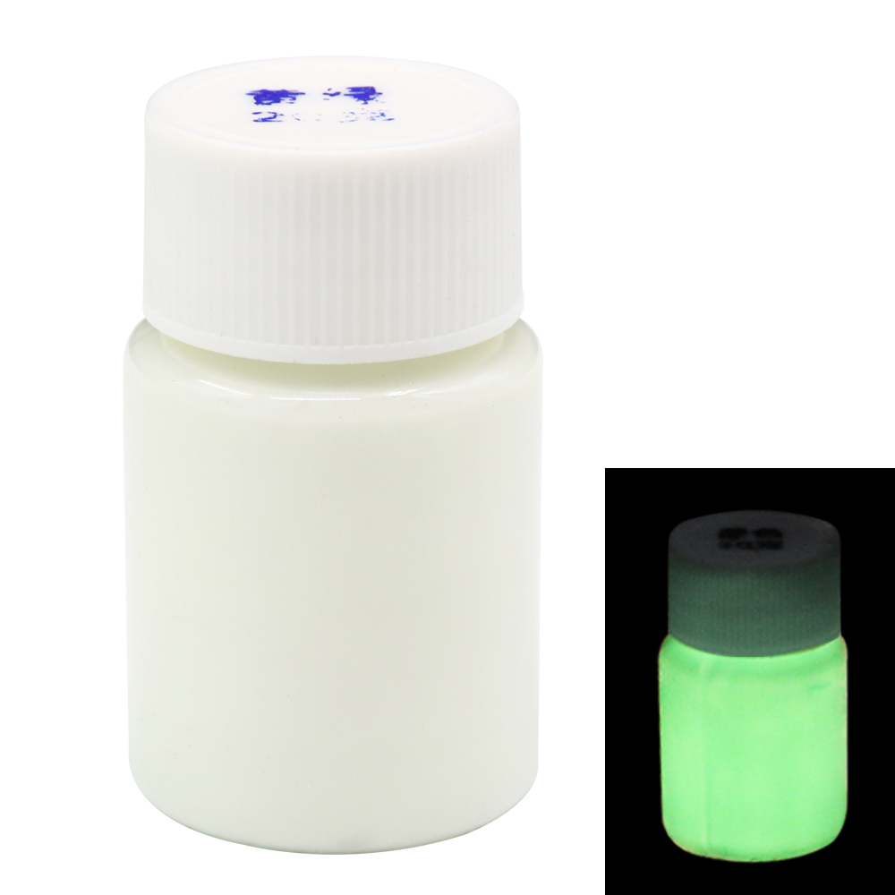 Glow In The Dark Luminous Paint Shining For DIY Home Party Decoration 20g Leaf Green Phosphor Pigment Acrylic Fluorescent Paint