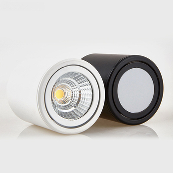 Rotating COB LED Ceiling light Surface mounted Cylinder Ceiling lamps 5W/7W/10W/12W/15W/20W Bedroom Living room clothing store artpad modern 7w black ceiling surface mounted light cob led 360 degree rotatable spotlights living room coffee cloth shop led