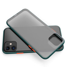 Contrast Color Phone Case for iphone 11 Pro Max Silicone Phantom Prote