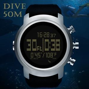 Image 2 - 2019 חדש גברים שעון עמיד למים 100m חכם דיגיטלי צבאי שעון 50M צלילה שחייה ספורט מד שעון