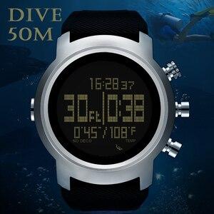 Image 2 - 2019 yeni erkek izle su geçirmez 100m akıllı dijital askeri İzle 50M dalış yüzme spor izle altimetre barometre pusula saat