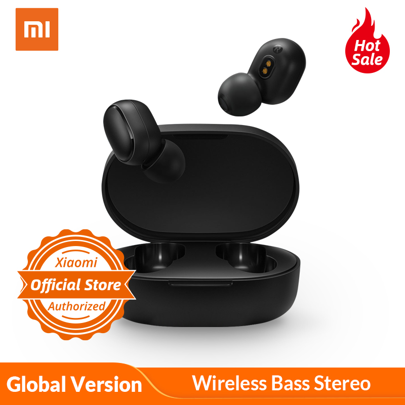 Global Version Xiaomi Redmi AirDots Bluetooth 5.0 In Ear TWS Wireless Bluetooth Earphone Stereo Bass Mic Handsfree AI Control
